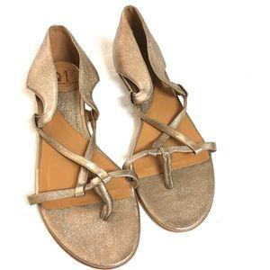 Diane Von Furstenberg strappy rose gold sandals
